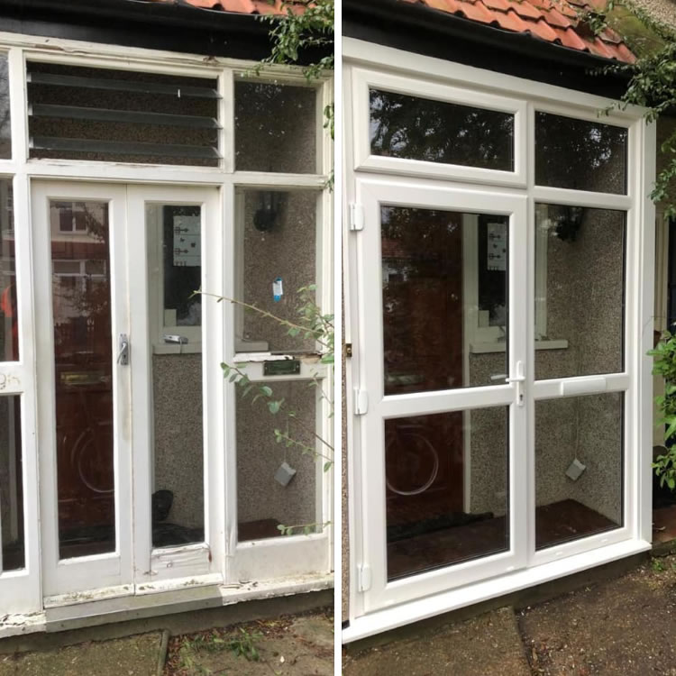 White UPVC Porch