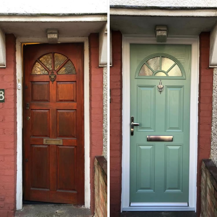 Wood to Composite Door - Chartwell Green