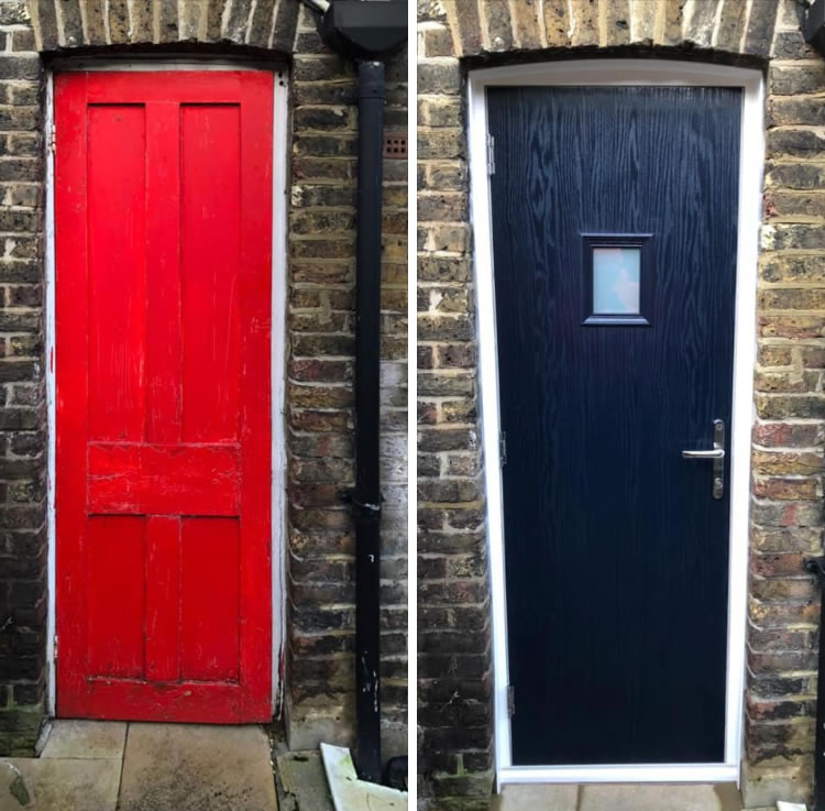 Wood to Composite Door